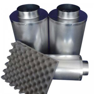 Inline Duct Silencer 10x30cm